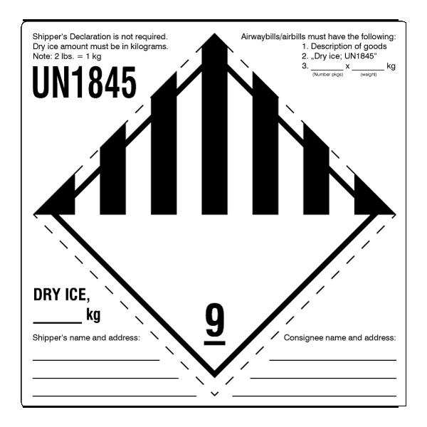 Klasse 9 Un1845 Trockeneis Standard